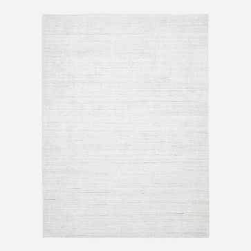 Shale Striations Rug, Light Gray, 8'x10'