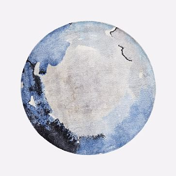 Watermark Round Rug, Frost Gray, 6' Round