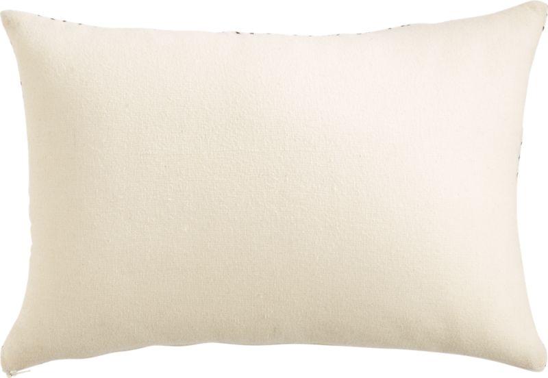 """18""""x12"""" triangle lattice pillow with down-alternative insert"""