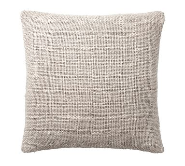 "Faye Textured Linen Pillow Cover, 20"", Flax"