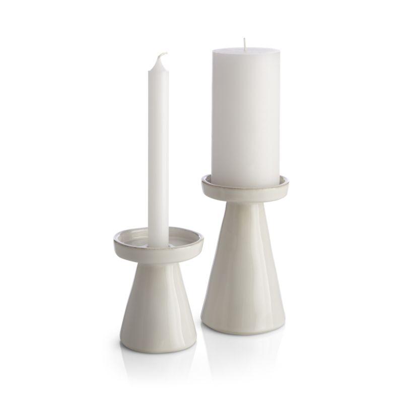 Marin White Large Taper/Pillar Candle Holder