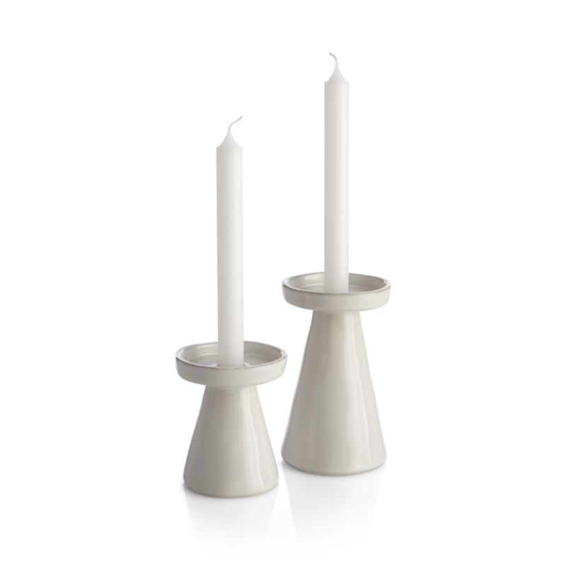 Marin White Small Taper/Pillar Candle Holder
