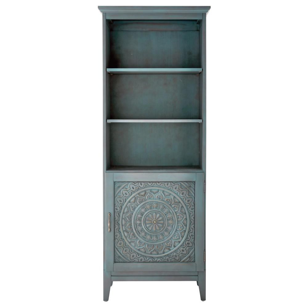 Home Decorators Collection Chennai 25 in. W Linen Cabinet in Blue Wash