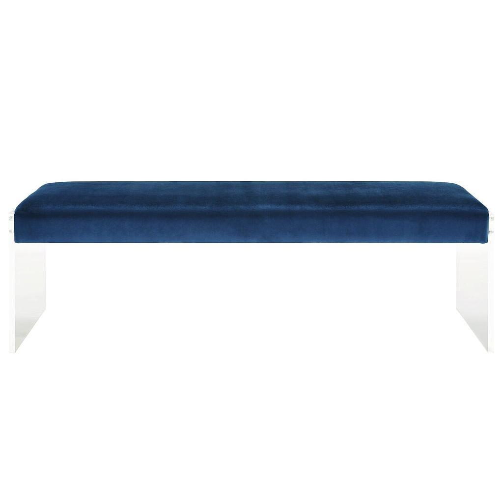 Elena Anna Velvet/Acrylic Bench