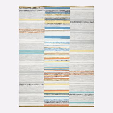 Mixed Stripes Dhurrie, Multi, 8'x10'