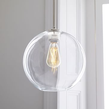 Sculptural Glass Shade, Large Geo, Clear
