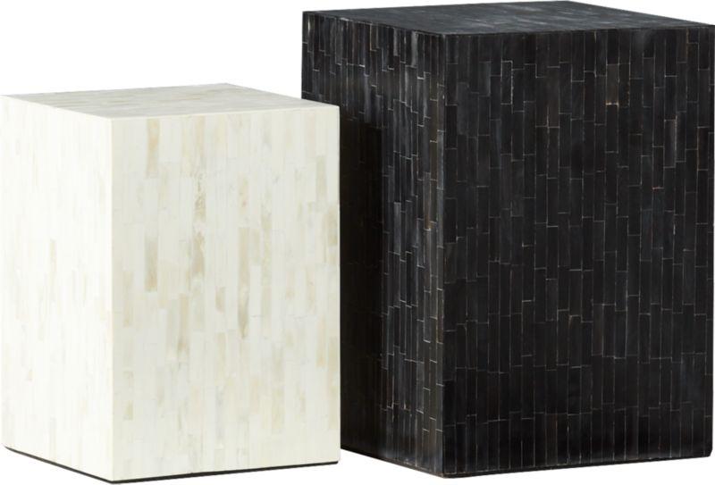 Quad Bone Inlay Side Table