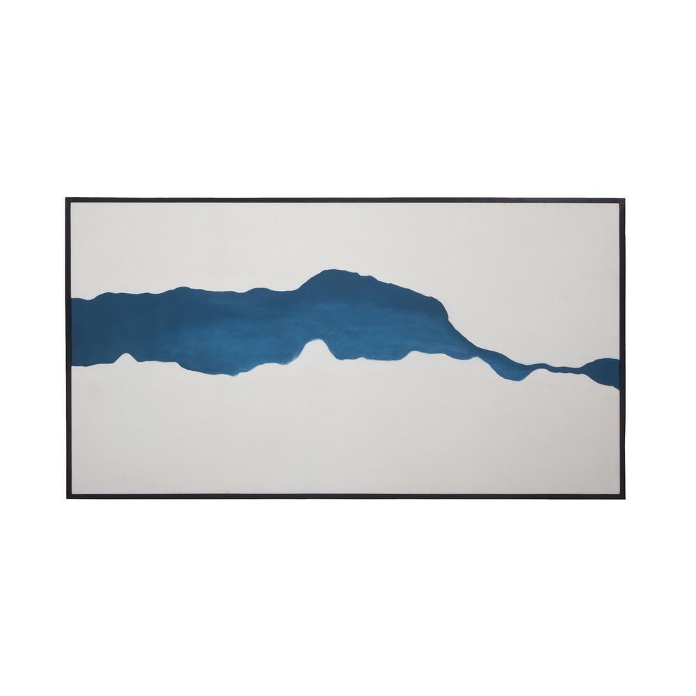 """34 in. x 64 in. """"Fissure"""" Framed Hand Painted Canvas Wall Art"""