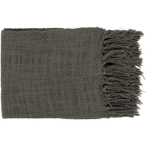 Alden Throw Blanket, Charcoal