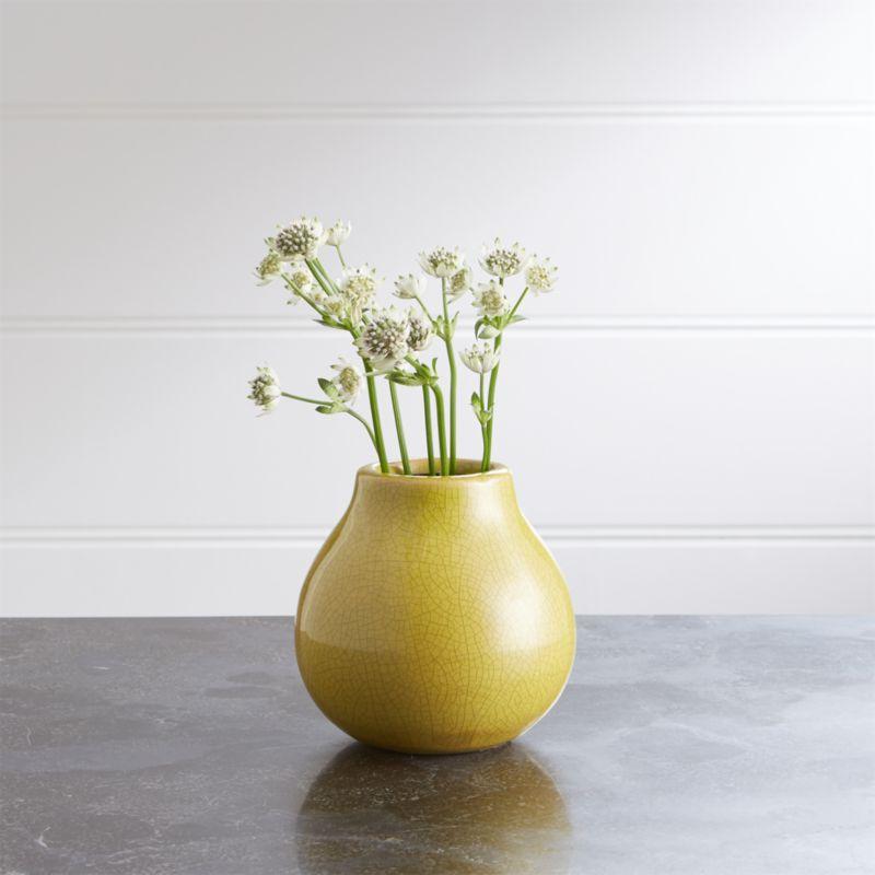 Patine Pot Ceramic Bud Vase