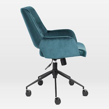 Two-Toned Upholstered Tilt Office Chair