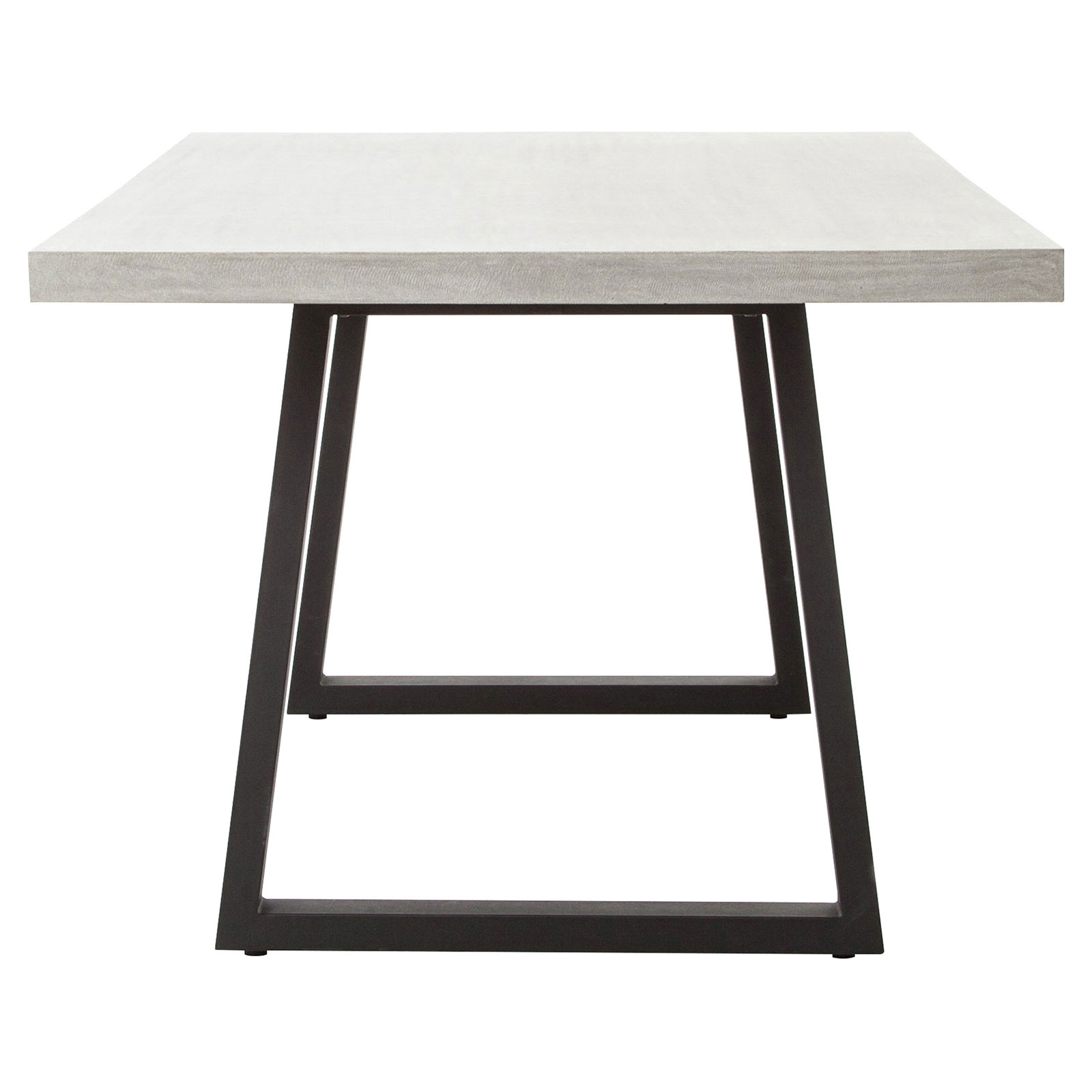 Maceo Modern Classic Rectangular Concrete Metal Dining Table - 79 inch