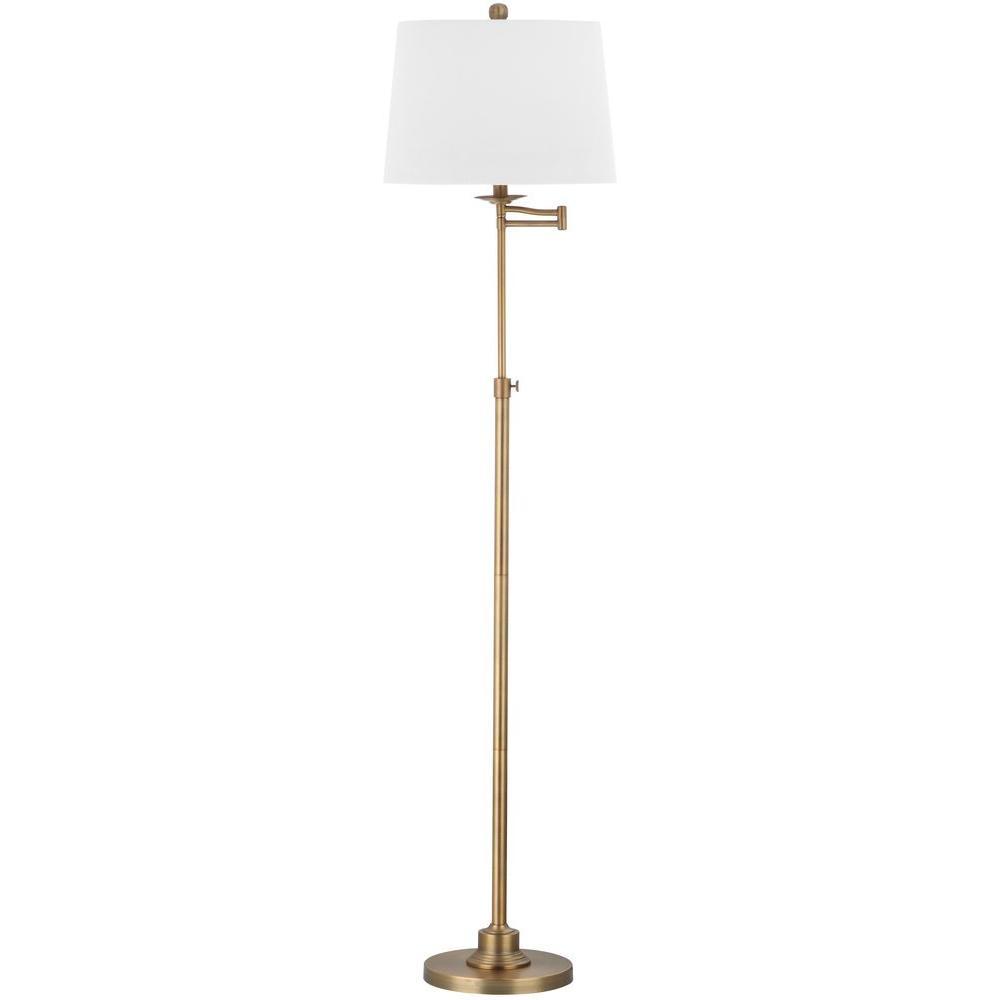 Safavieh Nadia 64.25 in. Gold Floor Lamp