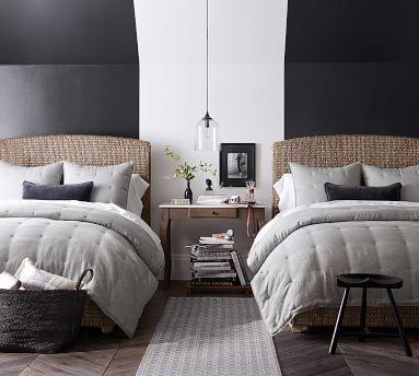 Belgian Flax Linen Comforter, Full/Queen, Flax