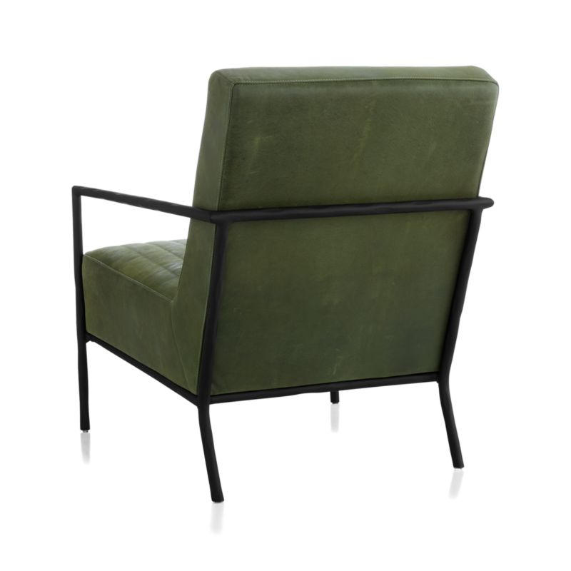 Pratt Leather Metal Frame Chair// Chester, Field