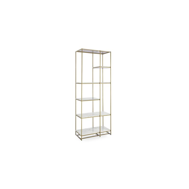 Estelle Brass and Marble Bookcase