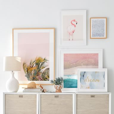"""PINK Framed Art by Minted(R), 18""""x24"""", White"""