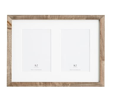 Wood Gallery 2-Opening Frame, 5x7 - Gray