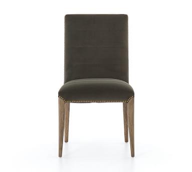 Dorsey Velvet Channel Tufted Dining Chair