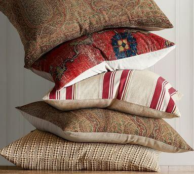 """Dara Persian Pillow Cover, 22"""", Red Multi"""