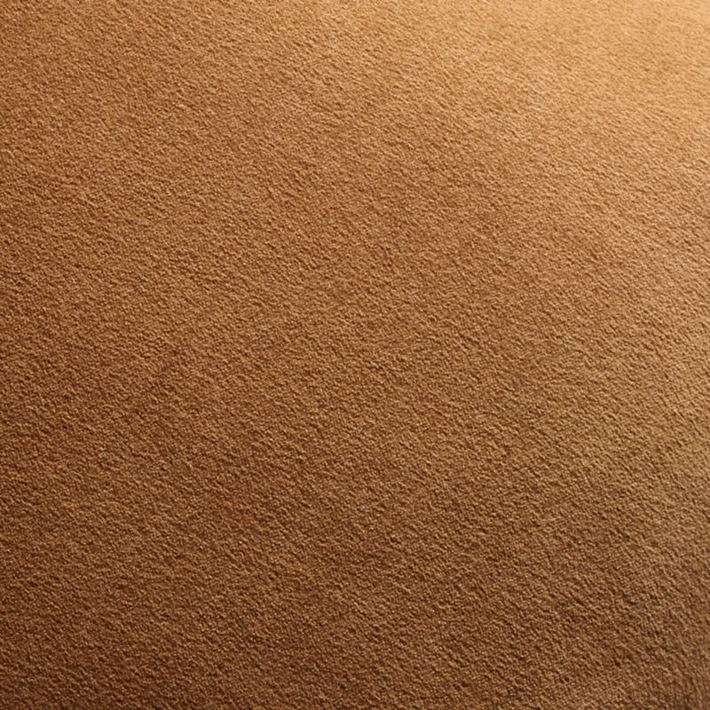 """Brenner Velvet Cognac Pillow with Down-Alternative Insert 20"""""""
