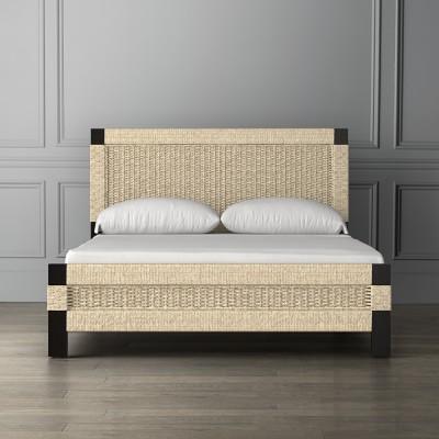 Amalfi Woven Bed, King, Espresso, Seagrass