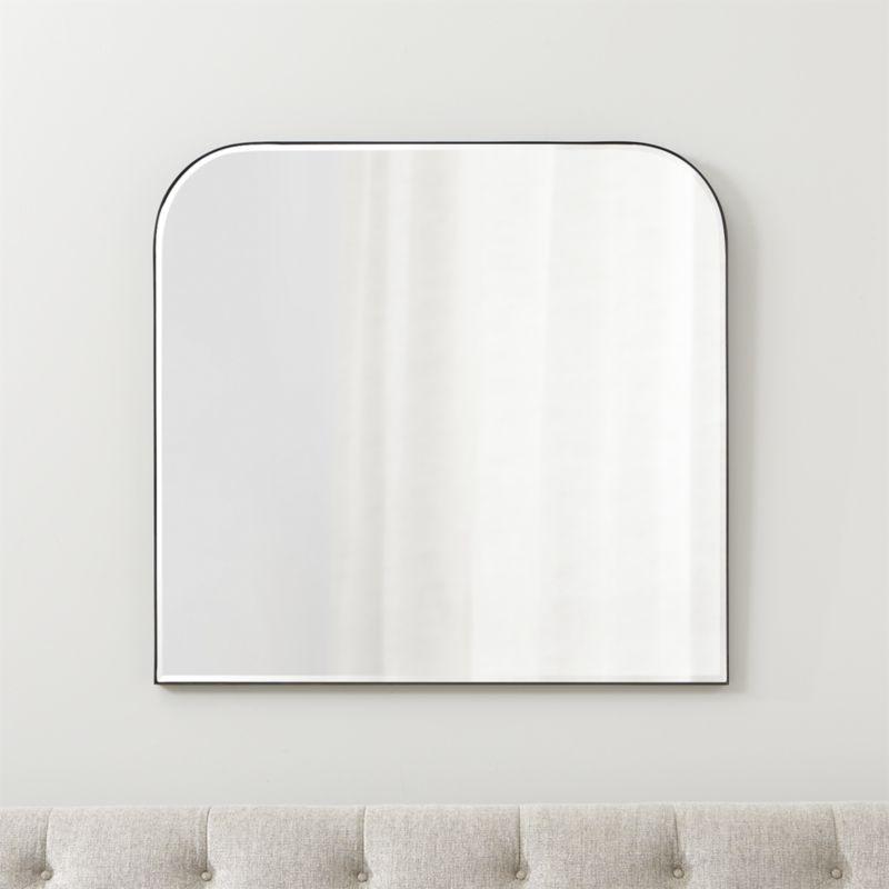 Edge Black Arch Wall Mirror
