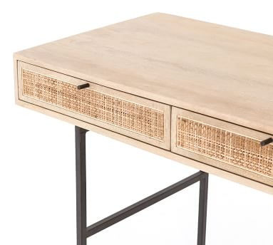 Dolores Cane Desk, Natural