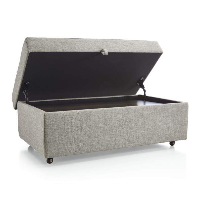 Barrett Storage Ottoman with Tray and Casters