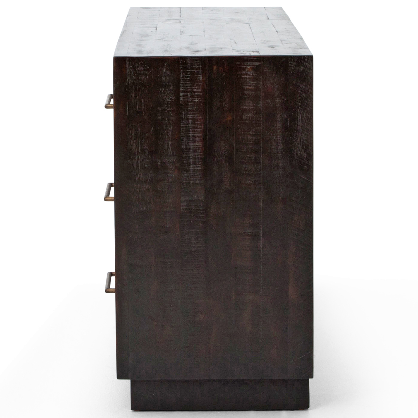 Dorwin Industrial Loft Espresso Brown Wood 6 Drawer Dresser