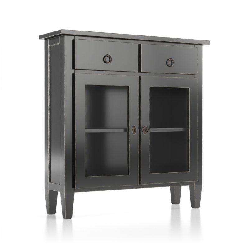 Stretto Bruno Black Entryway Cabinet