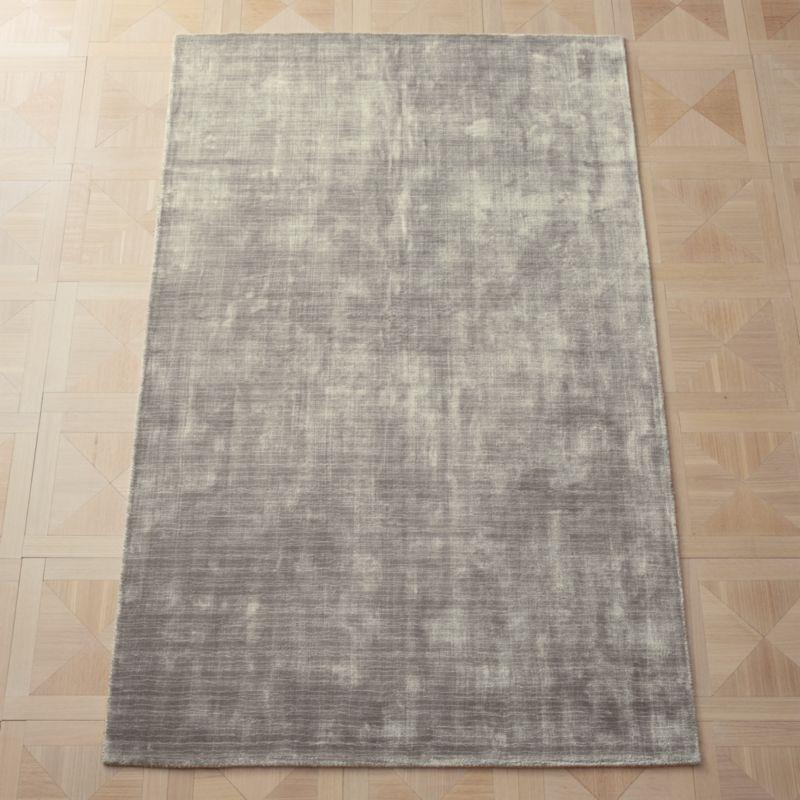 Posh Silver Grey Rug 5'x8'