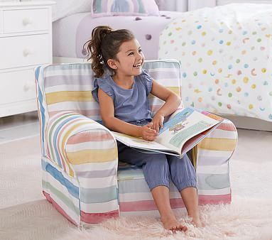 Kayla Rainbow Stripe Twill Anywhere Chair(R)