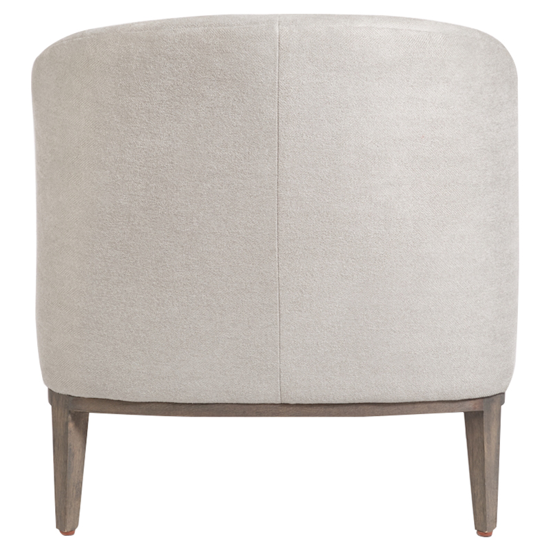 James Modern Classic Grey Upholstered Tub Style Living Room Chair