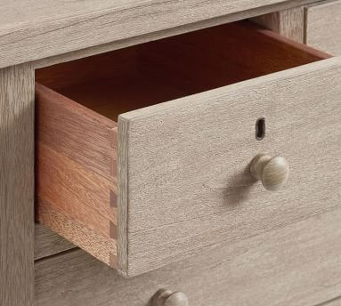 Farmhouse 4-Drawer Nightstand, Charcoal