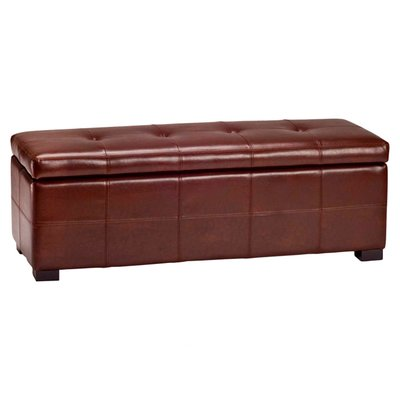 Catherine Faux Leather Storage Bench
