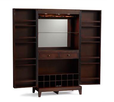 Caldwell Bar Cabinet, Rustic Mahogany