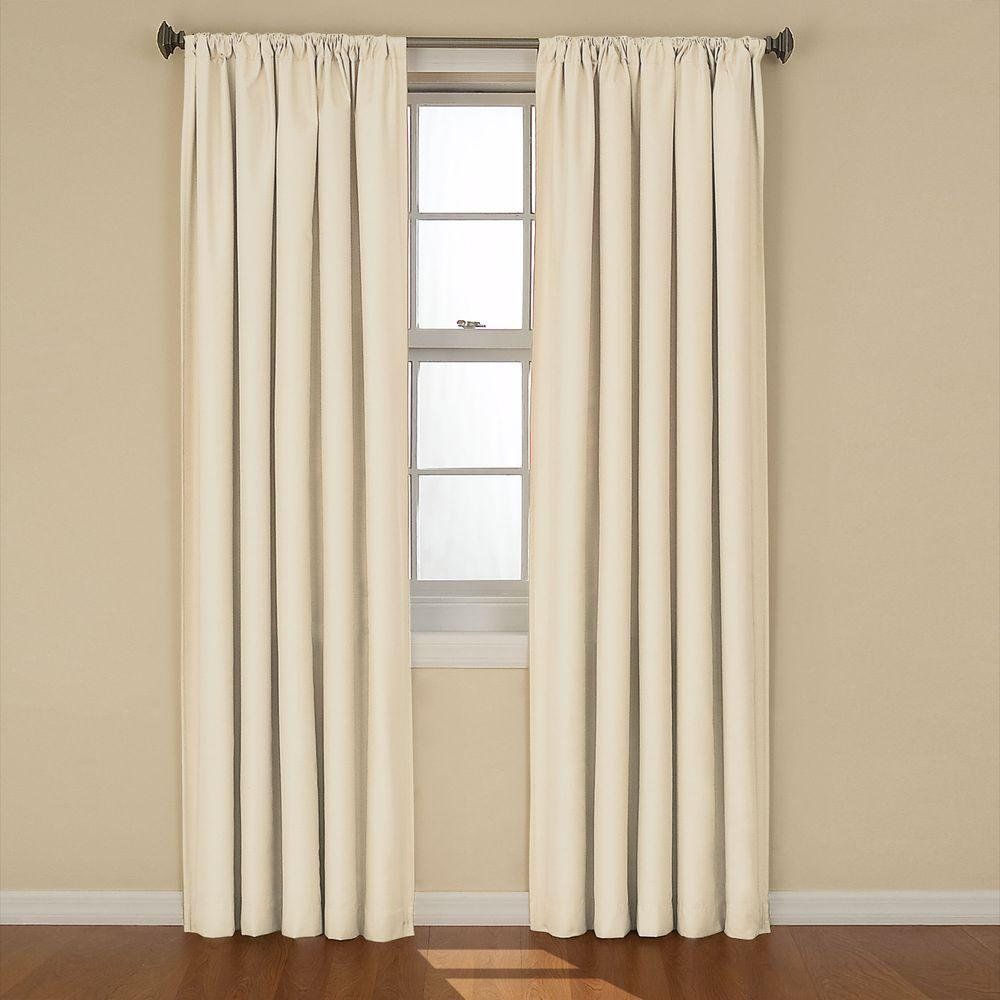 Eclipse Kendall Blackout Ivory Curtain Panel, 84 in. Length