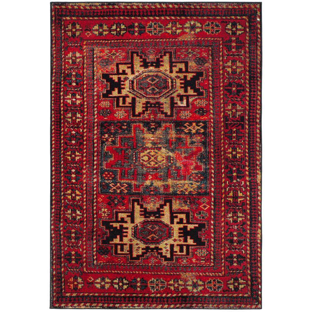Vintage Hamadan Red/Multi 7 ft. x 9 ft. Area Rug