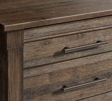 Brookdale 3-Drawer Nightstand, Weathered Chestnut
