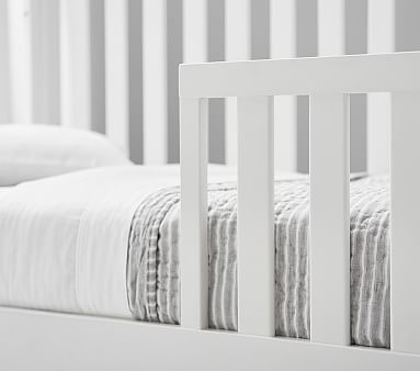 Kendall 4-in-1 Toddler Bed Conversion Kit, Simply White, UPS