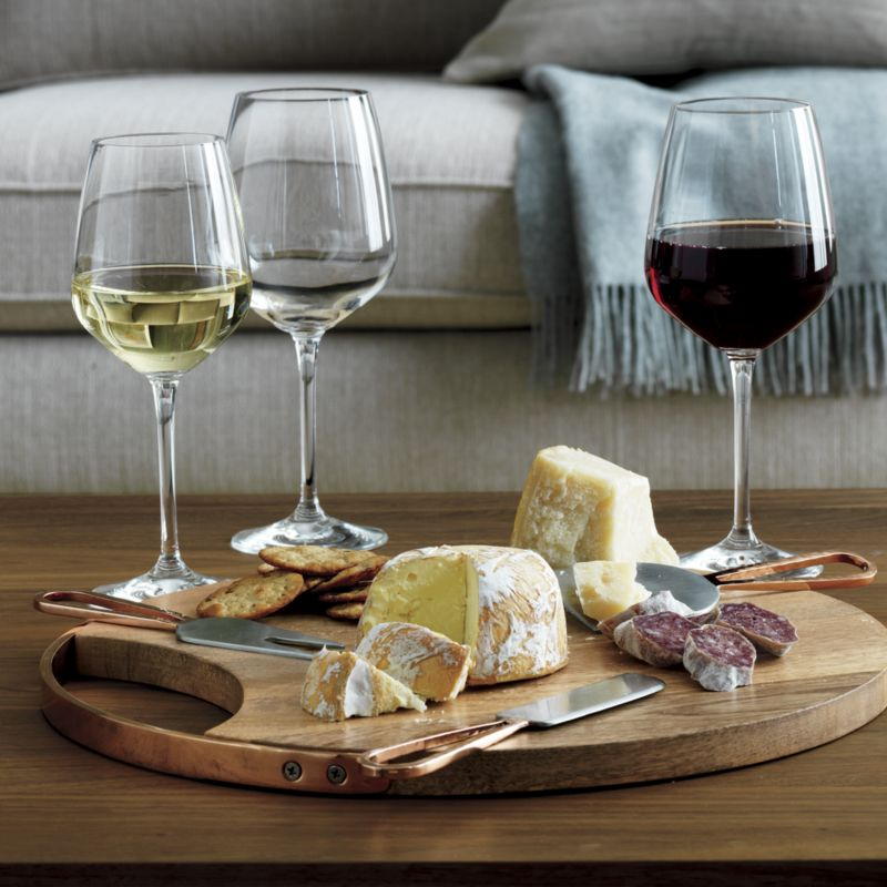 Beck Cheese Board and 3 Copper Cheese Knives Set