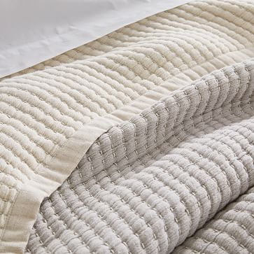 Double Cloth Blanket, King, Stone Gray