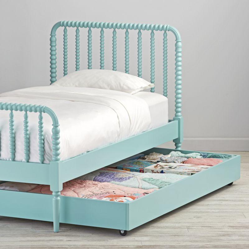 Jenny Lind Teal Trundle Bed