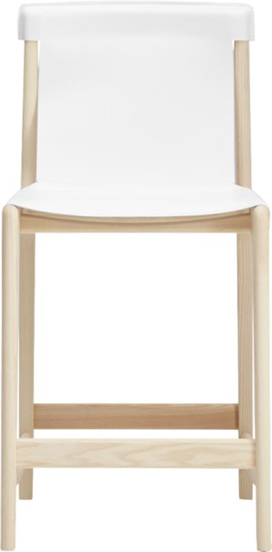 """""""Burano White Leather Sling Counter Stool 24"""""""""""""""