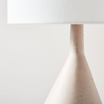 Asymmetry Ceramic Table Lamp, Large, Speckled Stone