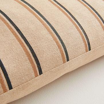 JUNEDAY Hana Lumbar Pillow Cover, Large, Hazelnut