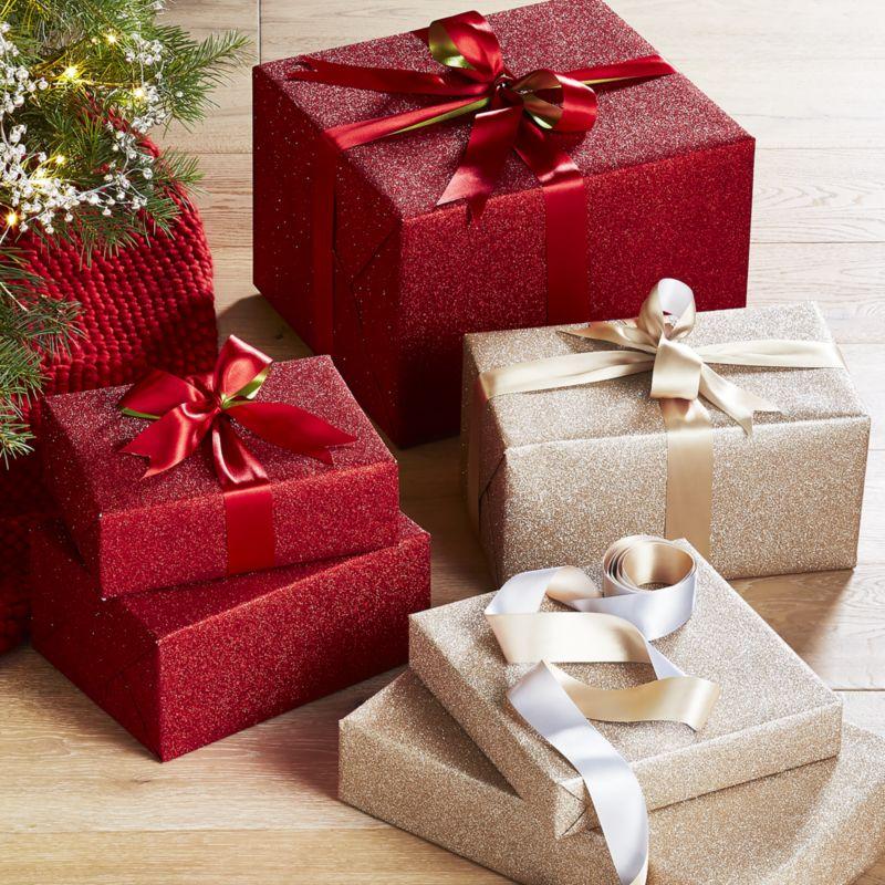 Champagne Glitter Gift Wrap