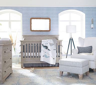 Larkin 4-In-1 Convertible Crib & Lullaby Mattress Set, Heritage Fog