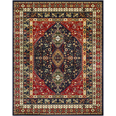 Batchelder Red/Blue Area Rug